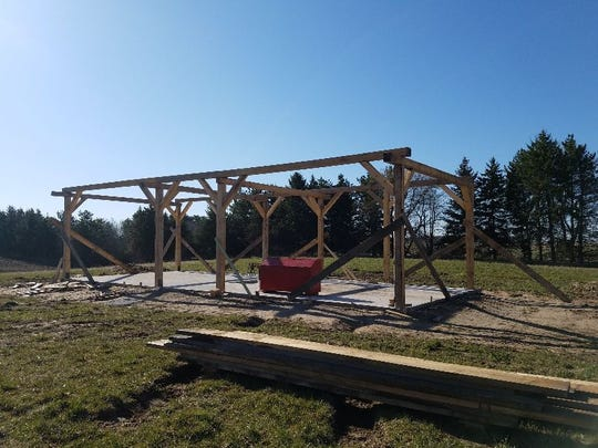 Construction has begun on the Krueger Sawmill, a partnership program between the Mid-Lakes Rustic Iron Club and the Manitowoc County Historical Society.