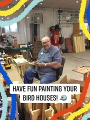 Former Air Force chef Dale Borgen built birdhouses for his granddaughter's entire 2nd grade class at Franklin Elementary.
