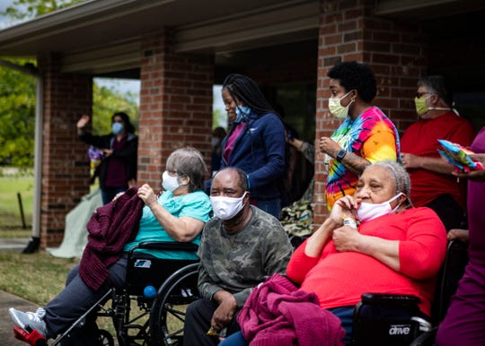 Landmark of DeSoto Nursing Home in Horn Lake, Miss., holds a Mother's Day parade on Friday, May 8, 2020. Due to COVID-19 residents can't be with their families.