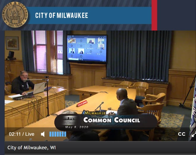The Milwaukee Common Council held a special meeting Friday to address financial concerns around the pandemic, including furloughing and reducing hours of employees. Like other meetings, much of the council appeared at the meeting virtually.
