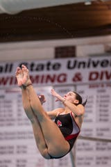 Caitlin Locante competes at Ball State as a diver with the BSU women's swimming and diving team. She cares deeply about mental health resources being available for athletes.