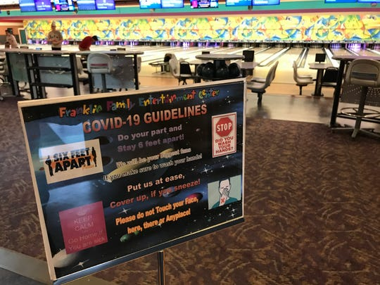 Franklin Family Entertainment Center reopened on Friday after being closed since March 16.