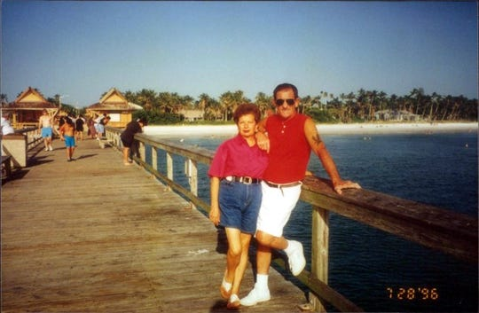 Nunzia Guardascione and her husband Roberto Guardascione pose for a photo in 1996. Nunzia Guardascione, 80 of North Naples, died because of COVID-19 on April 23, 2020.