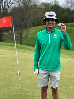 Max Hogue made a hole-in-one on No. 7 on Thursday at the Trout Club.