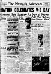 Friday marked the 75th anniversary of V-E Day in World War II. The Advocate, then an evening paper, covered this news in its May 8, 1945 edition.