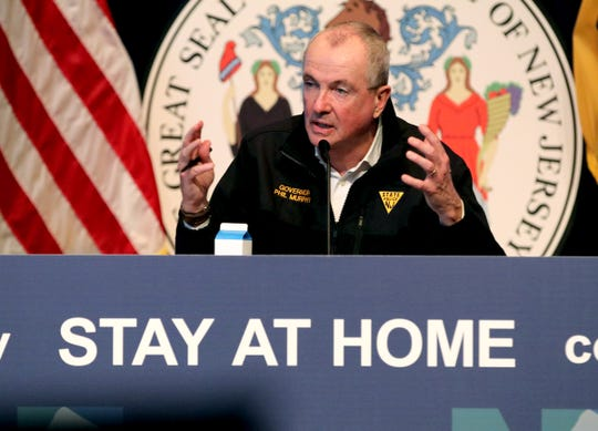 New Jersey Governor Phil Murphy speaks during his Friday, May 8, 2020, press conference at War Memorial in Trenton, NJ, on the State's response to the coronavirus pandemic.