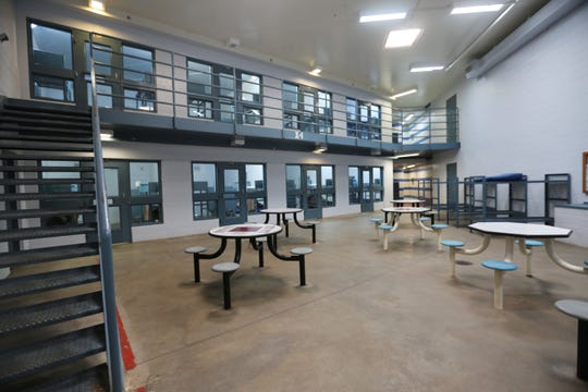 This cell block at the Doña Ana County Detention Center is for minimum security detainees.