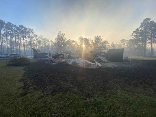 The home of Cathy and Robert Davis was completely leveled by the Five Mile Swamp Fire on Wednesday night.