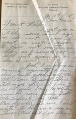 The last letter Private Roy Chandler sent home from France in April, 1918. He was killed a month later.
