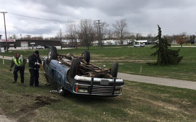 A one car rollover crash occurred at the intersection of Huron Boulevard and Busha Highway in Marysville on May 8, 2020.