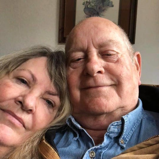Beth Lacey Dearman of Cottonwood (left) takes a photo with her husband, Don Dearman.