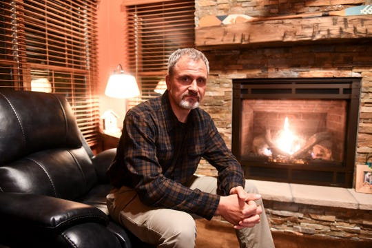 Billy Dinkel is pictured at his home Wednesday, Oct. 2, 2019.