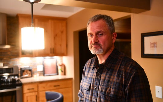 Billy Dinkel is pictured during an interview at his home Wednesday, Oct. 2, 2019.