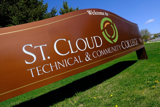 A sign greets visitors to St. Cloud Technical and Community College Friday, May 8, 2020, in St. Cloud.