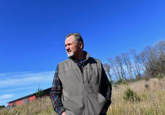 Billy Dinkel is pictured Saturday, Oct. 26, 2019, on land he owns near Long Prairie.