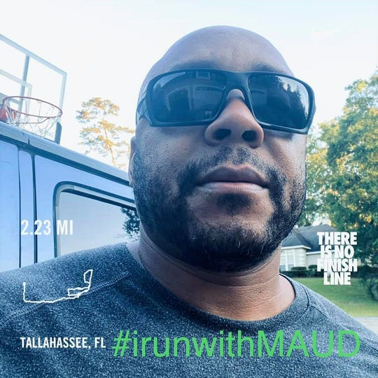 Robert Bryant II tracked 2.23 miles during a recent workout in the OB-FIT/Mega Ace 45-Mile Challenge.