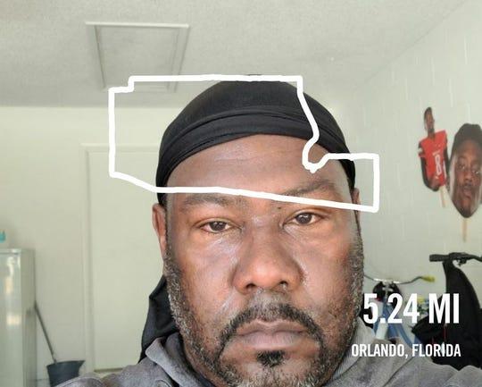 Former FAMU quarterback Rod Jackson tracked 5.24 miles during a recent workout in the OB-FIT/Mega Ace 45-Mile Challenge.