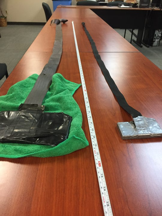 """Authorities seized so-called """"mail fishing"""" devices from suspects after a traffic stop in Camarillo Thursday."""