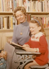 Phyllis Schlafly with daughter Anne, 6, in 1970 at their home in Alton, Illinois.