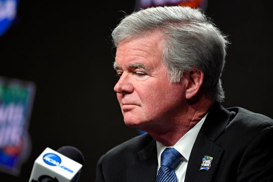 """We certainly need to have a much higher level of testing,"" NCAA president Mark Emmert says."