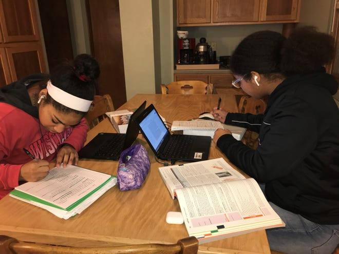 Dominique and Leamae King, seniors at Green Bay's Preble High School, are preparing for three Advanced Placement exams this spring. They're among the millions of students who will now take the tests online, among many other changes due to coronavirus.
