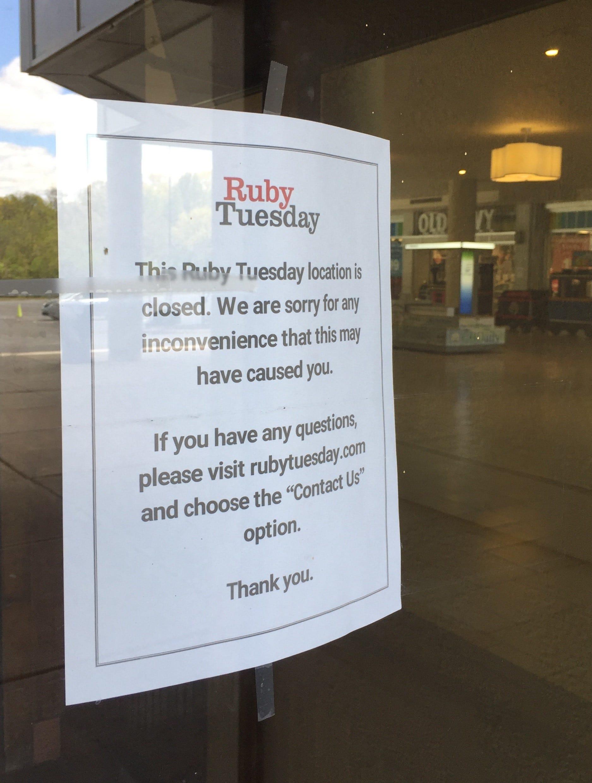 Ruby Tuesday Closing Three Restaurants In Monmouth, Ocean