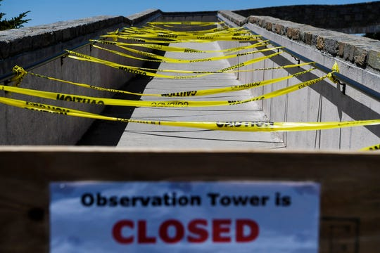 The observation tower at Mount Mitchell remained closed May 9, 2020.