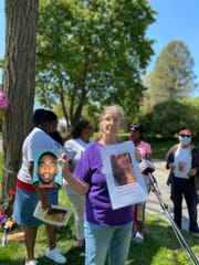 Homicide victim Kaydee Bobbitt's mother, Wendy Vasquez, spoke out against gun violence on May 8, 2020 hoping the public will come forward with information regarding her daughter's death. She spoke to media outlets at the scene where Bobbitt died, 33rd Street and Kingman Boulevard.