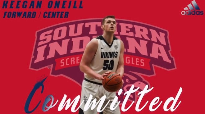 Barr-Reeve forward Keegan O'Neill is the latest player to commit to the USI men's basketball program.
