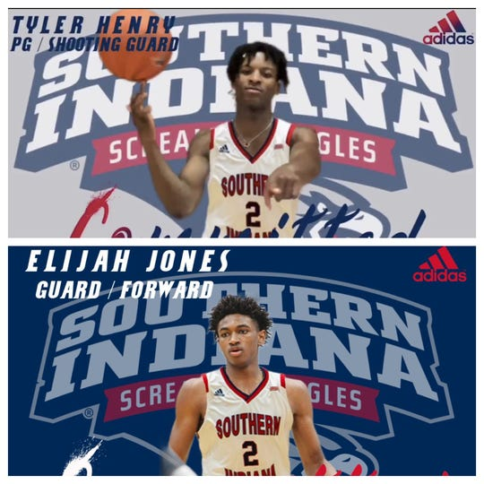 USI's two latest commits -- sophomore transfer guard Tyler Henry (top) and freshman guard/forward Elijah Jones.