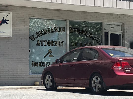 Greenville police officers responded to a shooting at a law office on Cleveirvine Avenue and Boyce Springs Avenue in Greenville on Saturday, May 9, 2020.