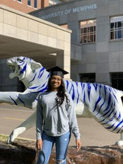 University of Memphis senior Brianna Hamlin graduated from the college of nursing Saturday. Hamlin plans to continue working as a nurse in Nashville, entering the workforce on the frontlines of the COVID-19 pandemic.