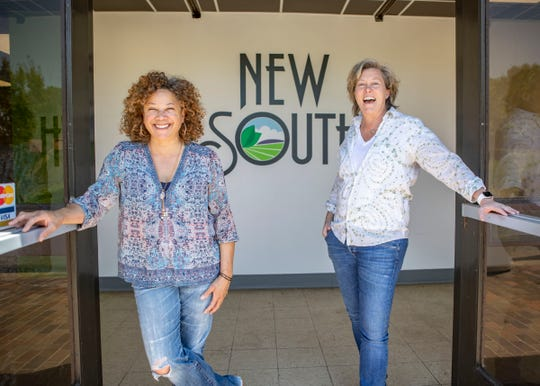 Heather Jamerson and Diane Terrell, co-founders of the 275 Food Project, pose for a portrait in Memphis, Tenn., on Saturday, April 9, 2020.
