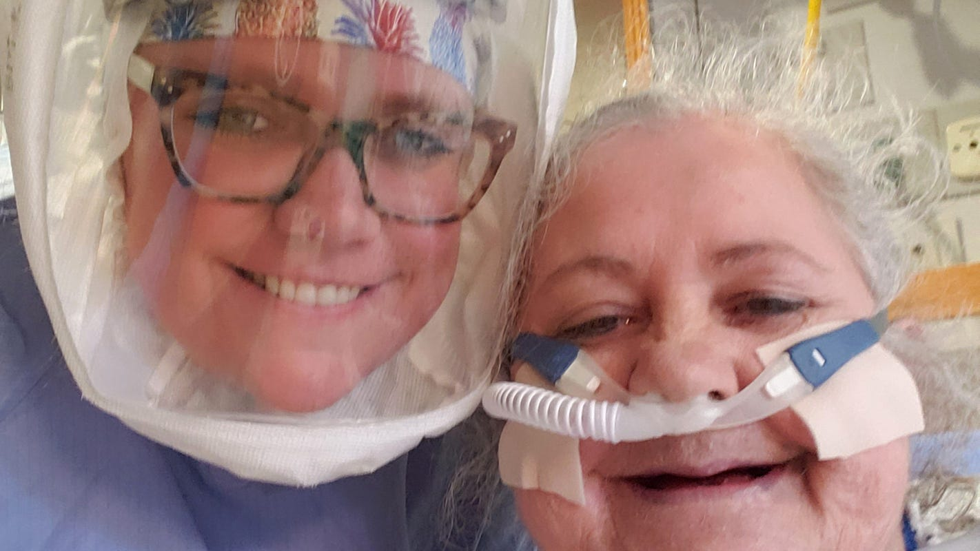 'It's like slowly being strangled.' Worn out, hooked to a ventilator, coronavirus patient still beats odds