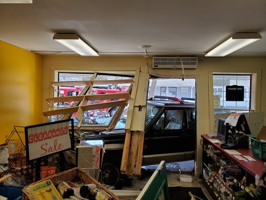 A vehicle crashed into a store in Rhinebeck Saturday morning. It is under investigation.