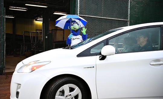 The first York Revolution Drive-Thru at PeoplesBank Park in York City, Friday, May 8, 2020. Dawn J. Sagert photo
