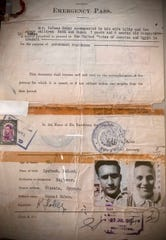 Lily and Kalman Haber emergency traveling papers.