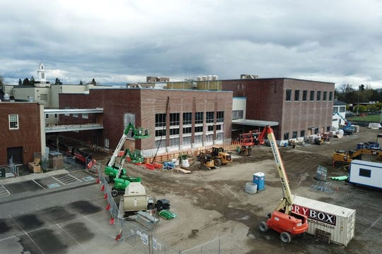 Construction continues at North Salem High School.