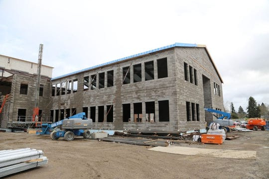 Construction on North Salem High School's bond project continues.