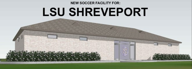 Artist's rendering of the new LSUS soccer facility.