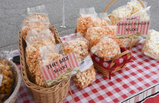 Popcorn sold by Dale and Patty Scott of Popcorn Patty is on display Saturday, May 9, 2020, in downtown St. Cloud.