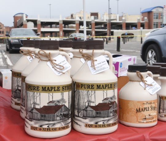 Maple Syrup is available from Maple Woods Products at the St. Cloud Area Farmers Market Saturday, May 9, 2020, in downtown St. Cloud.
