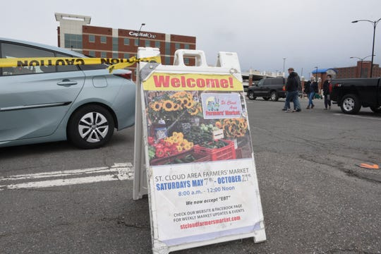 The St. Cloud Area Farmers Market began their summer season Saturday, May 9, 2020, in downtown St. Cloud.