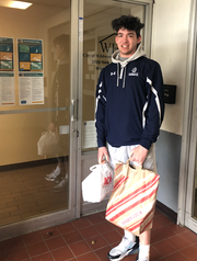 Jimmy Kurtz of Wildwood Crest, a member St. Augustine College Preparatory School's Class of 2021, helps senior citizens in the community by delivering weekly meals so they can stay safely in their homes.