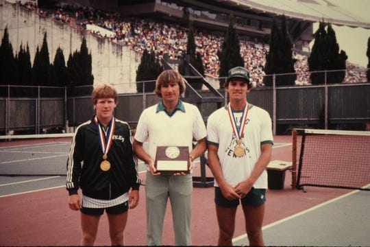 King's David Marks and Hal Morrison won the 1980 Class 4A UIL State championship in the boys doubles draw. The duo capped an undefeated season, going 33-0.