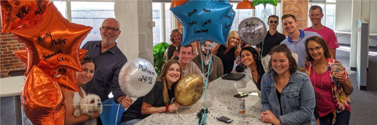 The Directions Research team celebrates reaching corporate wellness goals