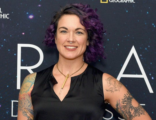 """Astronomer Lucianne Walkowicz of National Geographic's """"Mars"""" attends the pre-reception at Cesca before National Geographic's StarTalk With Neil DeGrasse Tyson, Live From The Beacon Theater on November 14, 2018 in New York City."""