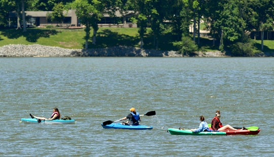 Middle Tennesseans enjoy area lakes like Old Hickory Lake in Mt. Juliet on Saturday, May 9, 2020.