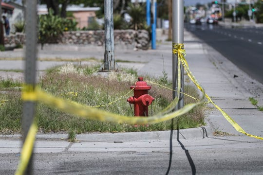 Manzanita Street, between between Amador Avenue and Lohman Avenue, is closed to traffic Sunday, May 10, 2020, while Las Cruces police investigate a fatal shooting that happened Saturday evening.