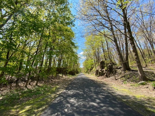 A view of the Hudson Valley Rail trail in Highland on Sunday, May 10, 2020.